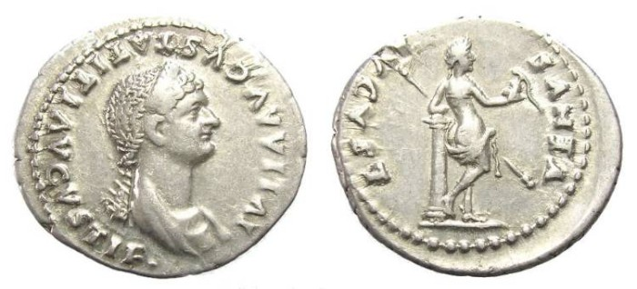 Ancient Coins - JULIA TITI DENARIUS. VERY GOOD QUALITY. SCARCE.