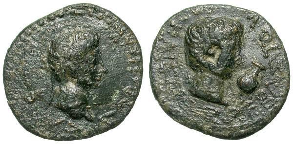 Ancient Coins - Augustus-Rhoemetalkes I. Tracian King. Interesting variant