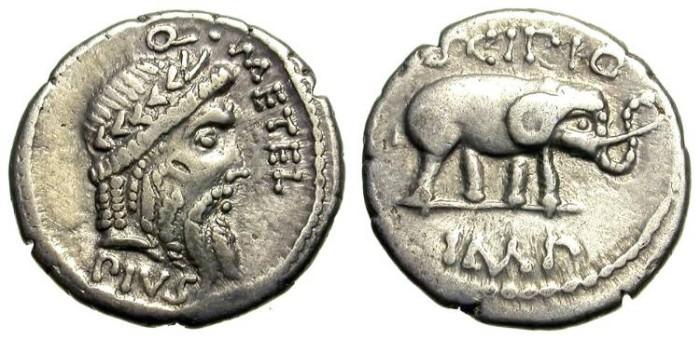 Ancient Coins - SCIPIO, THE AFRICAN. DENAR. NICE COIN. GOOD SILVER