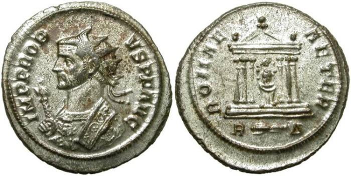 Ancient Coins - PROBUS. AE ANTONINIANUS. FULL SILVERING.