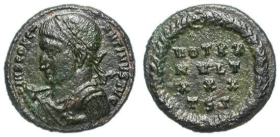 Ancient Coins - CONSTANTINUS I THE GREAT. FOLLIS. THESSALONIKA. VF. VERY INTERESTING TYPE !