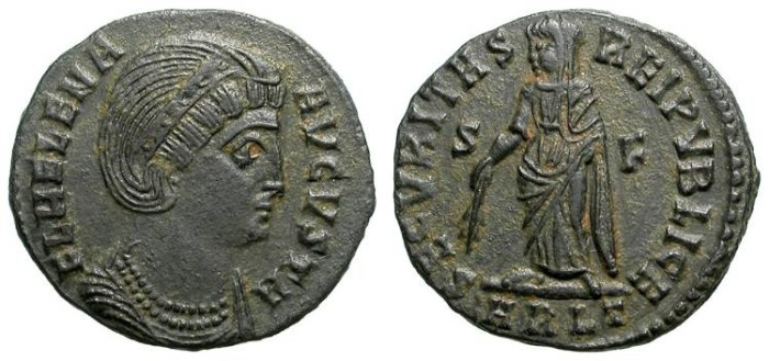Ancient Coins - HELENA. FOLLIS. BEAUTIFUL COIN !