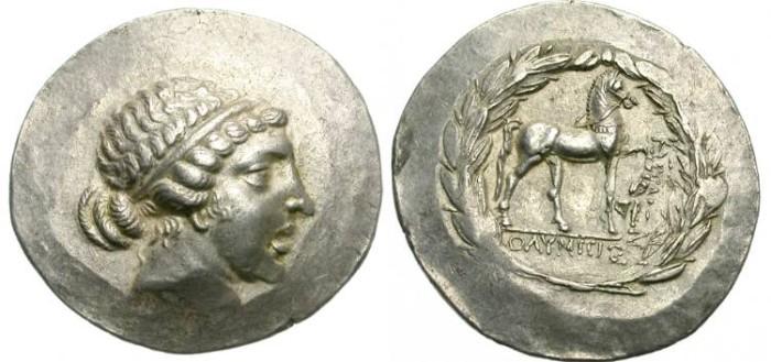 Ancient Coins - KYME, AEOLIS. TETRADRACHM. ATTRACTIVE  PORTRAIT.