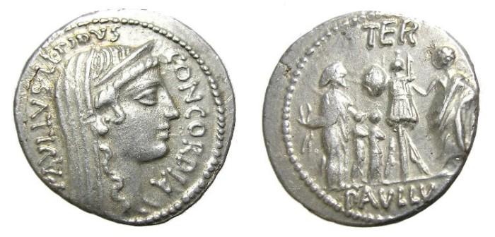 Ancient Coins - AEMILIA  DENARIUS. GREAT  QUALITY.