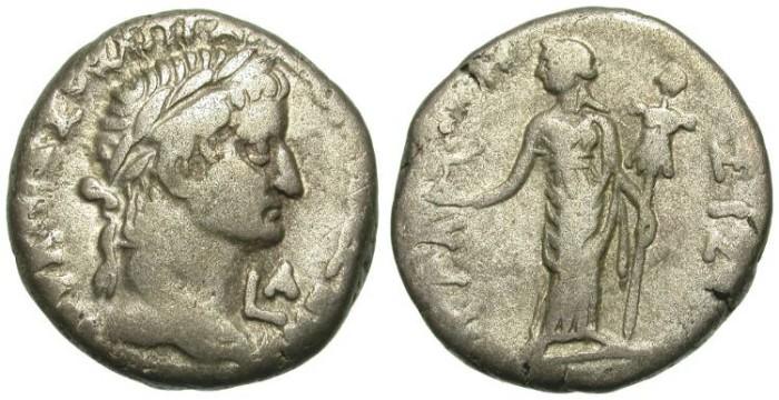Ancient Coins - GALBA. ALEXANDRIA. BILLON TETRADRACHM. INTERESTING ISSUE /1
