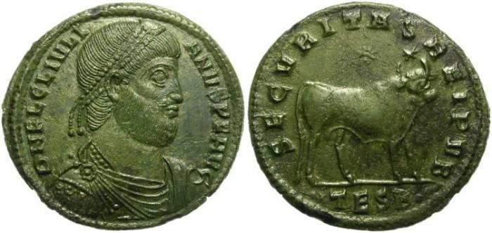 Ancient Coins - JULIANUS II APOSTATA.  360-363 A.D. DOUBLE MAIORINA.  THESSALONICA.  FANTANSTIC  PORTRAIT.