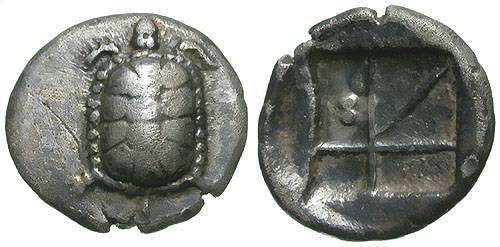 Ancient Coins - AEGINA.  NICE STATER. EARTH TURTLE. OPPORTUNITY