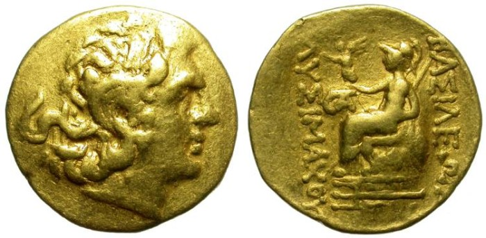 Ancient Coins - LYSIMACHOS. POSTHUMOUS GOLD STATER. MITHRIDATIC WARS. AFFORDABLE ISSUE