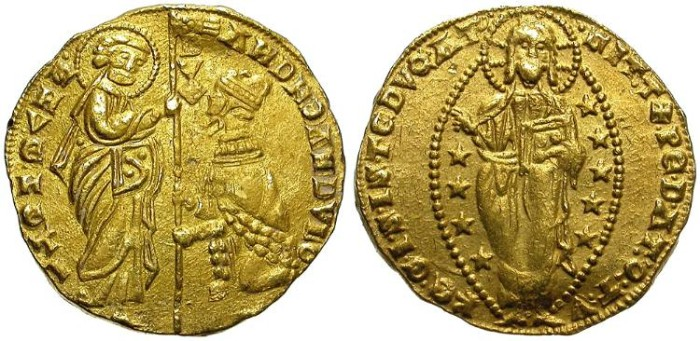Ancient Coins - VENICE. ANDREA DANDULO.  AU DUCAT. ND (1343-1354)  GOOD QUALITY. ATTRACTIVE.