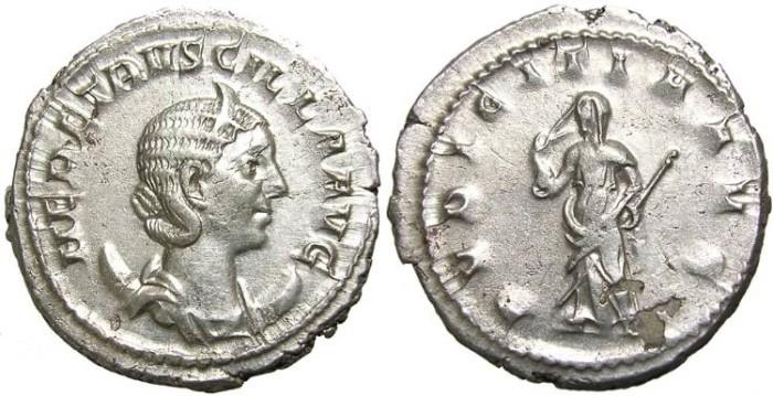 Ancient Coins - HERENNIA  ETRUSCILLA  ANTONINIANUS,  W.  OF  TRAIAN  DECIUS.  SCARCE.