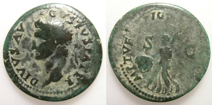 Ancient Coins - AUGUSTUS. DUPONDIUS. TITUS RESTITUTION. NICE PATINA !