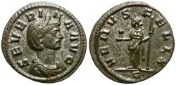 Ancient Coins - SEVERINA, wife of Aurelian. DENARIUS. 275 AD. VERY ATTRACTIVE.