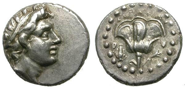 Ancient Coins - RHODOS, CARIA. RARE TRIHEMIOBOL. VERY NICE MINIATURE ISSUE !
