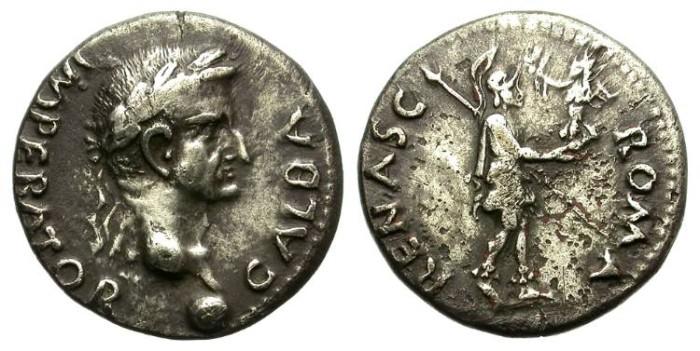 Ancient Coins - GALBA. SILVER DENARIUS. ATTRACTIVE PROVINCIAL EMISSION. NICE TONING
