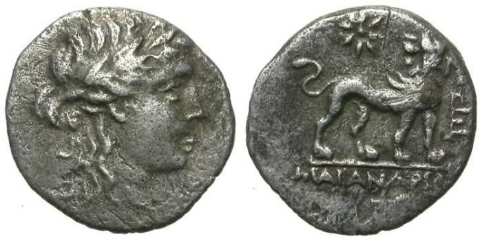 Ancient Coins - MILET. TETROBOL. VF. RARE. NICE APOLLO DEPICTION