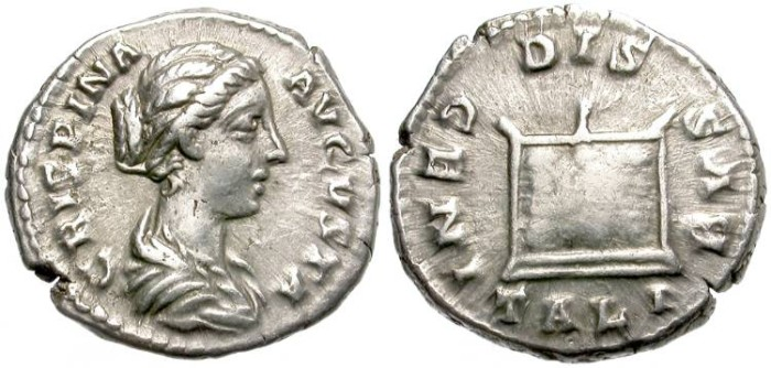 Ancient Coins - CRISPINA.  AR DENARIUS. ROME MINT. VERY NICE PORTRAIT.