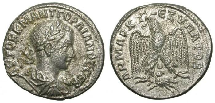 Ancient Coins - GORDIAN III. TETRADRACHM. A EF. SYRIA. BEAUTIFUL ISSUE