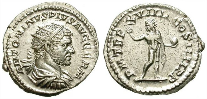 Ancient Coins - CARACALLA. ANTONINIAN. EF. FORCEFUL PORTRAITURE.