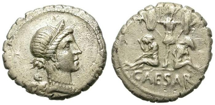 Ancient Coins - IULIUS CAESAR. DENAR. GOOD SAMPLE FOR A DICTATOR´S COIN
