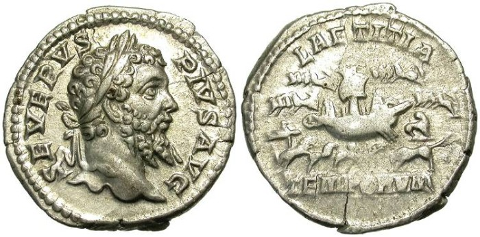Ancient Coins - SEPTIMIUS SEVERUS. ANOTHER SAMPLE OF THIS RARE ISSUE