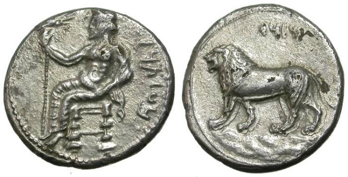 Ancient Coins - MAZAIOS. MIRIANDROS MINT. FOUREE STATER. SO NICE !