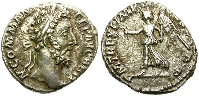 Ancient Coins - COMMODUS. SILVER DENARIUS. GOOD SILVER. ATTRACTIVE COIN
