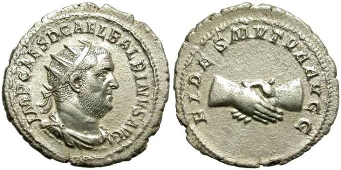 Ancient Coins - BALBINUS.  238 A.D.  AR  ANTONINIANUS.  INTERESTING COIN.