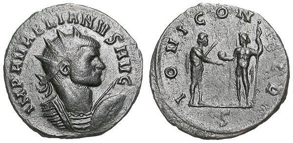 Ancient Coins - AURELIAN. AE ANTONINIAN. GVF. VERY RARE BUST. SO ATTRACTIVE !