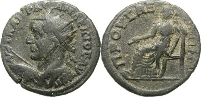 Ancient Coins - TRAIN DECIUS. PROVINCIAL AE. PRUSA, BITHYINIA. RARE AND ATTRACTIVE ISSUE