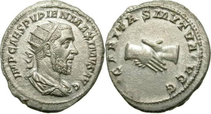 Ancient Coins - PUPIENUS. SILVER ANTONINIANUS. NICE CONDITION
