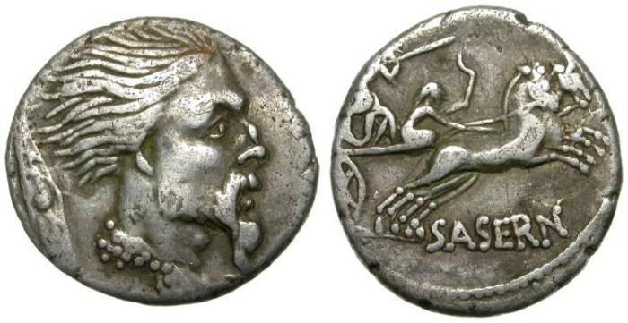 Ancient Coins - VERCINGETORIX DENAR. ROMAN REPUBLIC. HOSTILIA SASERNA MONEYER