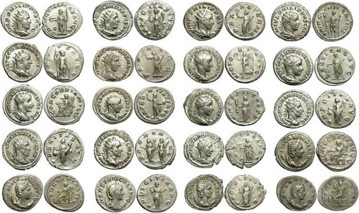 Ancient Coins -  LOT OF 20 SILVER ANTONINIANI. GOOD MIXTURE. NICE CONDITION /2
