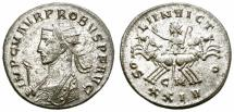 Ancient Coins - PROBUS. ANTONINIANUS. CIZYCUS.  MUCH SILVERING REMAINING.