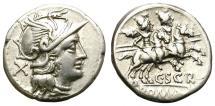 Ancient Coins - ROMAN REPUBLIC. SILVER DENARIUS. SCRIBONIA 1. NICE & ATTRACTIVE ISSUE