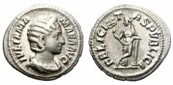Ancient Coins - IULIA MAMAEA. 222-235 AD. SILVER DENARIUS.  ATTRACTIVE COIN.