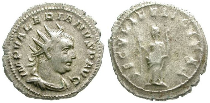 Ancient Coins - VALERIAN I. SILVER ANTONINIAN. GOOD SILVER MATERIAL. EXCELLENT PORTRAIT