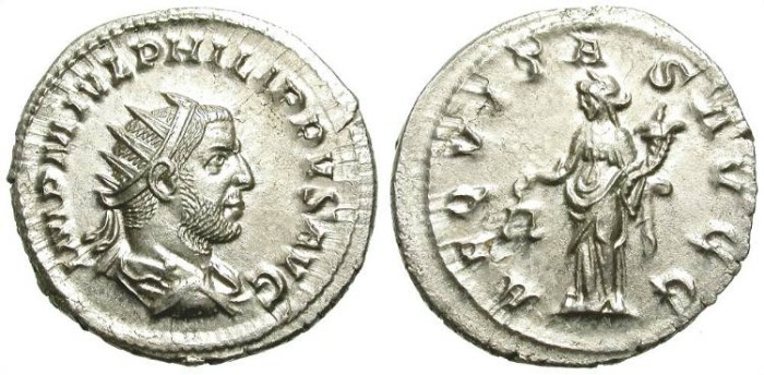 Ancient Coins - PHILIP I. AG ANTONINIAN. NICE EF. SO BEAUTIFUL !