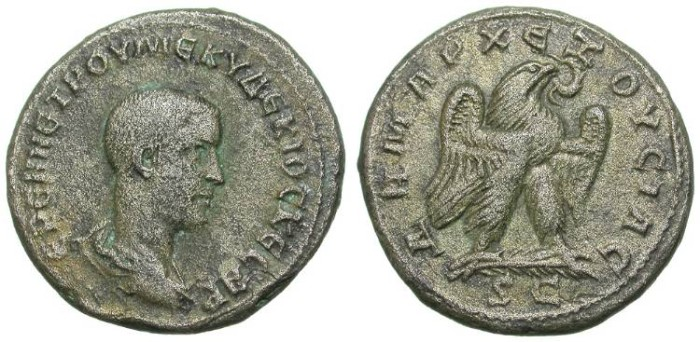 Ancient Coins - HERENNIUS ETRUSCUS. BILLON TETRADRACHM. ANTIOCHIA. NICE