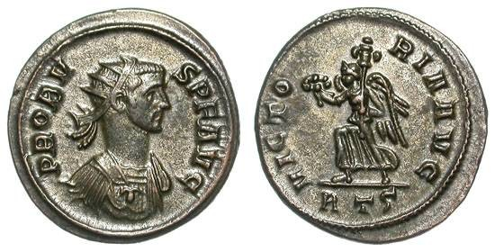Ancient Coins - PROBUS. AE ANTONINIAN. FROM THE EQUITI SERIES OF ROME. A CURIOUS VARIANT