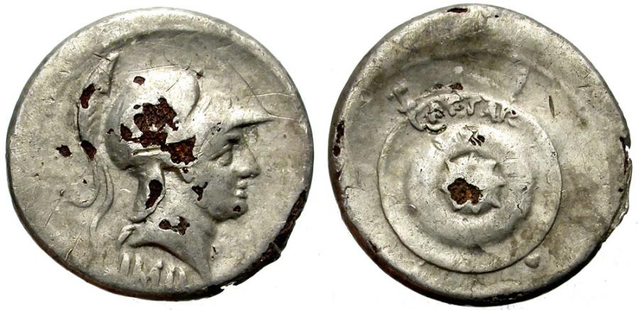 Ancient Coins - AUGUSTUS. FOUREE DENARIUS (SILVER PLATED). ATTRACTIVE & IINTERESTING ANCIENT COUNTERFEIT