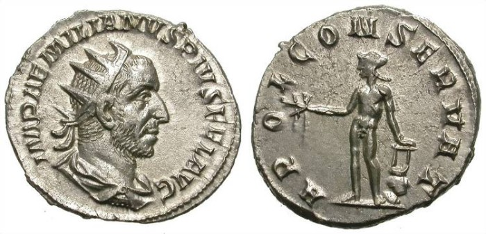 Ancient Coins - AEMILIAN. AG ANTONINIAN. SUPERB PORTRAIT. GREAT ISSUE