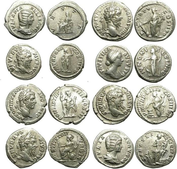 Ancient Coins - LOT OF 8 ROMAN SILVER DENARIUS. GOOD SILVER CONDITION /1