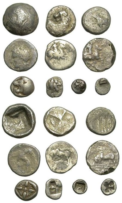 Ancient Coins - LOT OF 10 MIXED FRACTIONS. VERY AFFORDABLE, SOME VERY INTERESTING PIECES