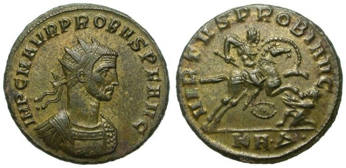 Ancient Coins - PROBUS. AE ANTONINIAN. SERDICA. RIC 877 BUST VARIANT. INTERESTING