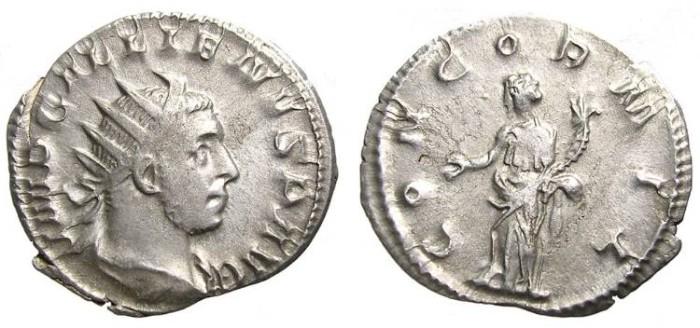 Ancient Coins - GALLIENUS  ANTONINIANUS.  GOOD  SILVER.