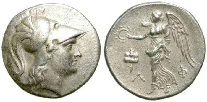 Ancient Coins - SIDE, PAMPHILIA. TETRADRACHM. BEAUTIFUL STYLE ! /2