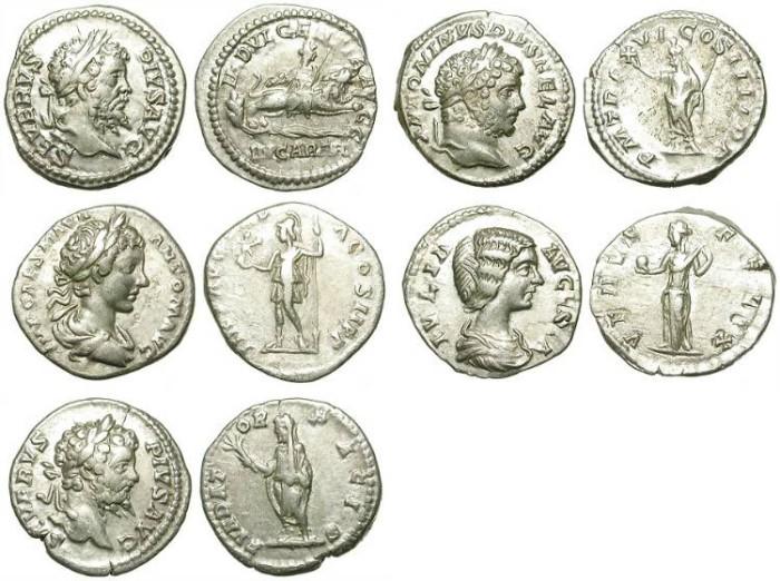 Ancient Coins - INTERESTING LOT OF 5 ROMAN DENARI. GOOD SILVER /3
