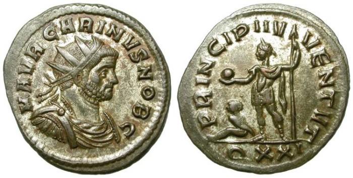 Ancient Coins - CARINUS. AE ANTONINIAN. TICINUM. SUPERB PORTRAIT