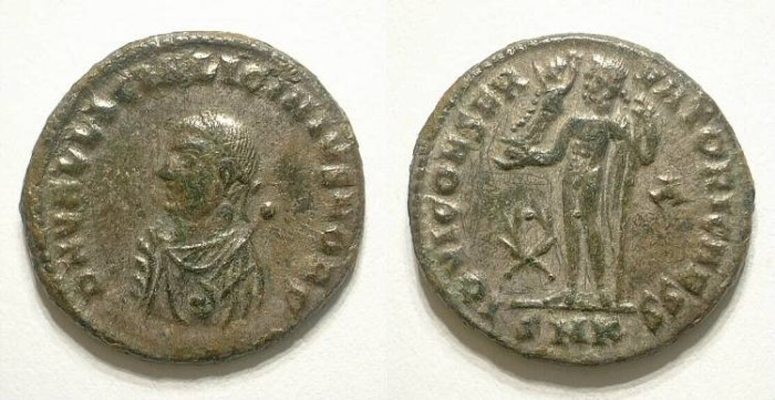 Ancient Coins - LICINIUS II. HALF FOLLIES. GOOD VF. SOME SILVER UNDERLYING. NICE SMALL BUST SPECIMEN !