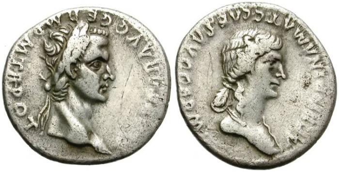 Ancient Coins - CALIGULA & AGRIPPINA. ROMAN SILVER DENARIUS. ATTRACTIVE RARITY AT AFFORDABLE PRICE